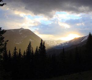 Sunset from Alma, Colorado